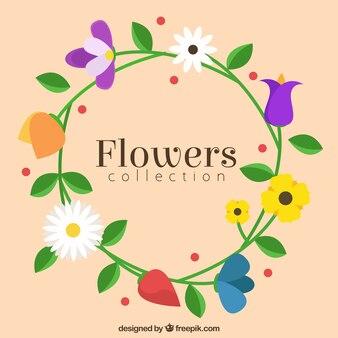 Grinalda floral desenhado mão bonito