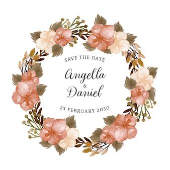 Grinalda floral vintage bonita com texto