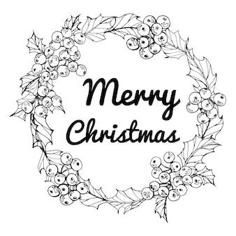 Grinalda para feliz dia de natal