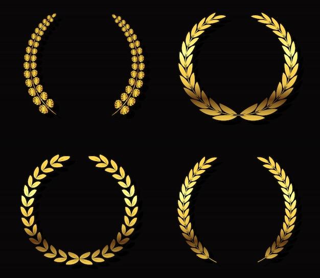 Grinaldas de louro ouro