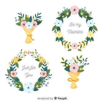 Grinaldas e buquês de flores dia dos namorados