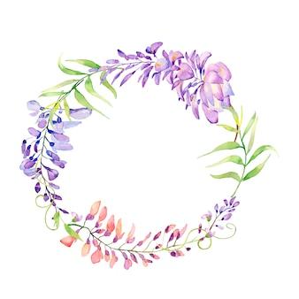 Grinaldas florais de primavera linda.
