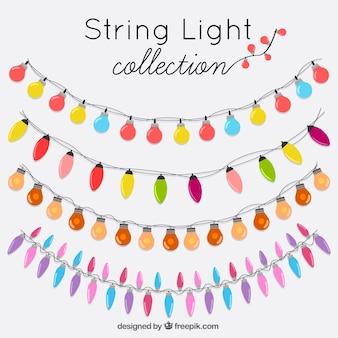 Grinaldas ornamentais conjunto de luzes decorativas