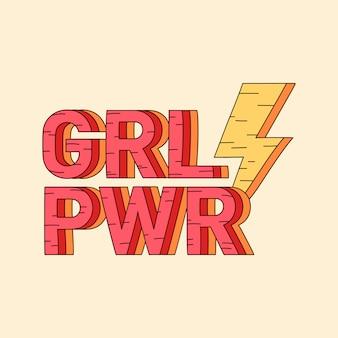 Grl pwr emblema do poder da menina