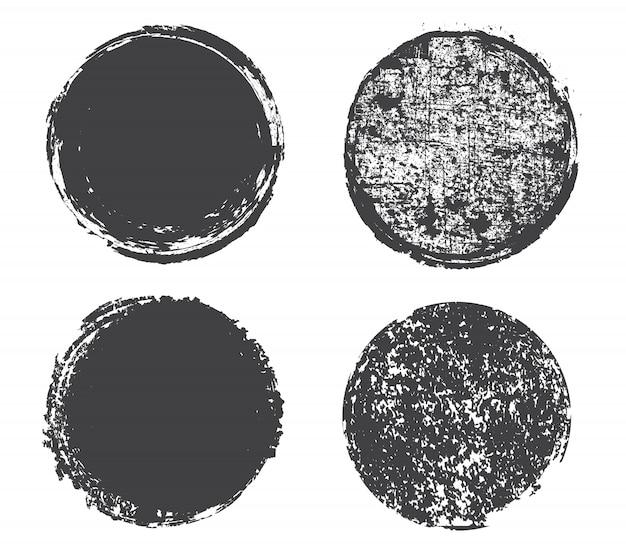 Grunge afligido círculos