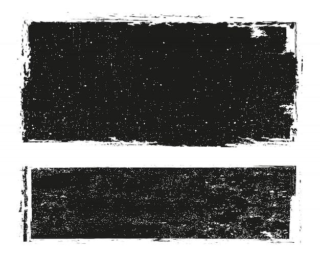 Grunge angustiado conjunto de quadros
