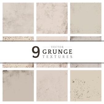 Grunge bege angustiado coleção de textura