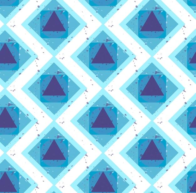 Grunge colorido abstrato sem costura padrão geométrico. vetor