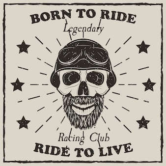 Grunge de camiseta vintage da motocicleta