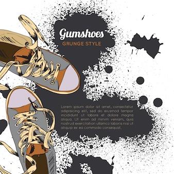 Grunge de esboço de gumshoes