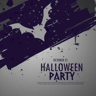 Grunge halloween fundo do partido celebbration