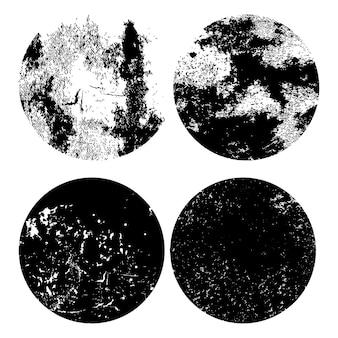 Grunge monocromático angustiado conjunto de textura
