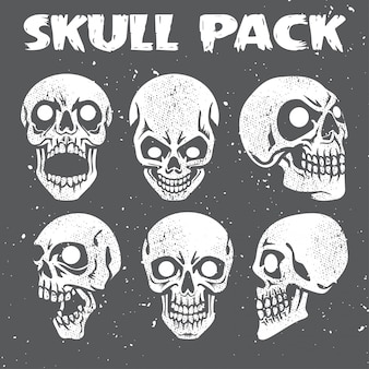 Grunge skulls coleção pack