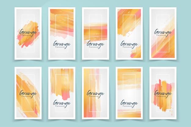 Grunge stoke art banner set