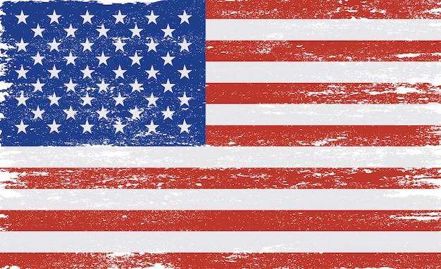 Grunge texturizado bandeira dos eua