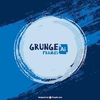 Grunge tinta azul vetor