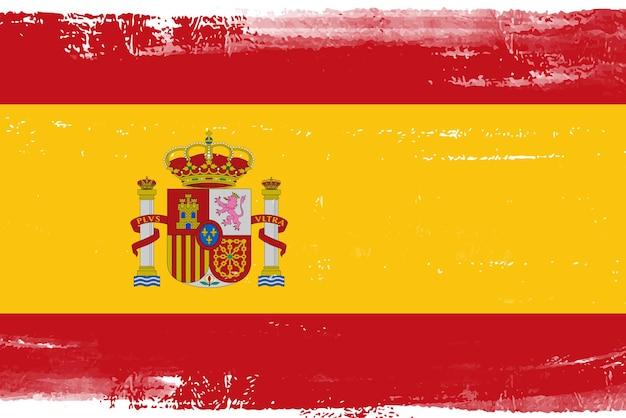Grunge vintage bandeira da espanha