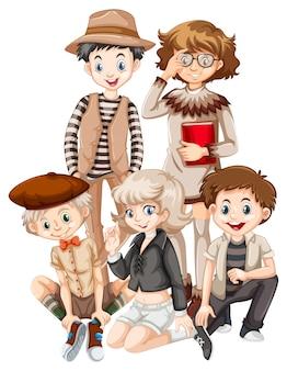 Grupo de adolescente hipster