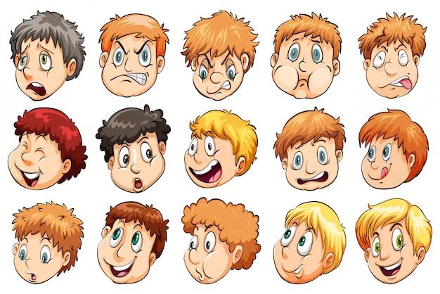 Grupo de cabeças