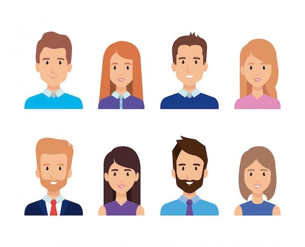 Grupo de caracteres de pessoas de negócios