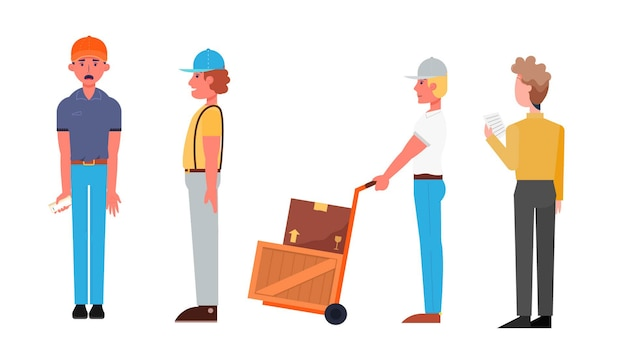 Grupo de caracteres isolado ilustração vetorial