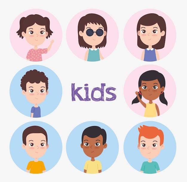 Grupo de crianças deficientes