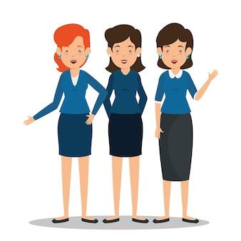 Grupo de empresários mulheres e homens