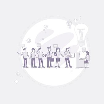 Grupo de empresários trabalhando equipe criativa