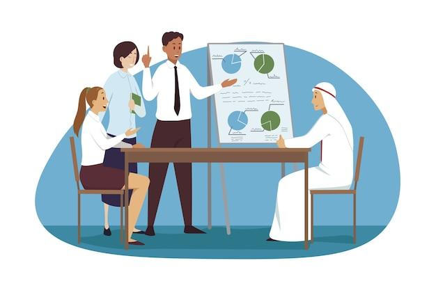 Grupo de equipe de mulheres empresárias internacionais