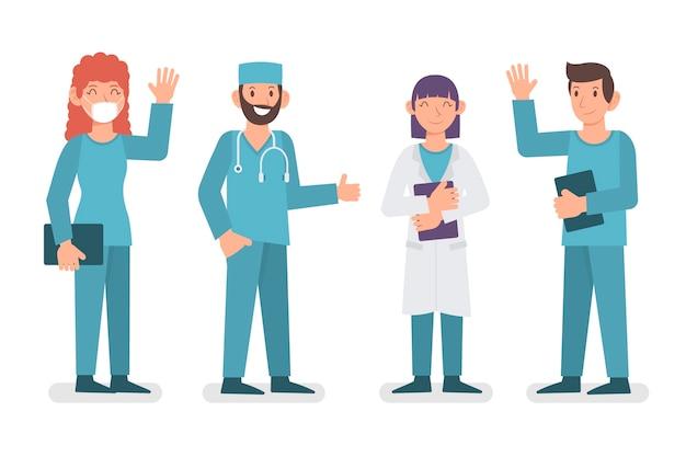 Grupo de equipe de profissionais de saúde