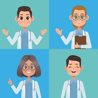 Grupo de equipe médica