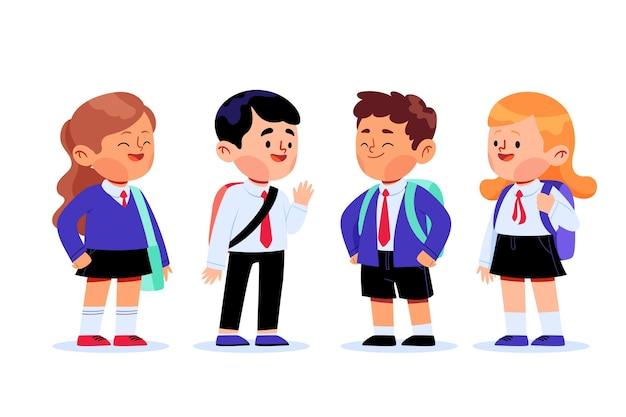 Grupo de estudantes na escola