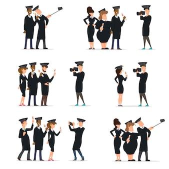 Grupo de estudantes no baile é fotografado para memória.