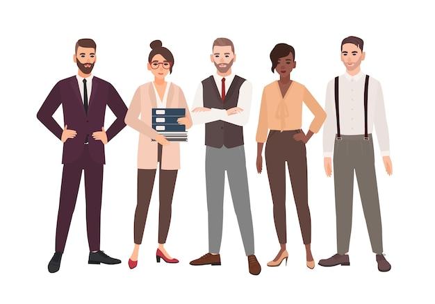Grupo de funcionários de escritório juntos