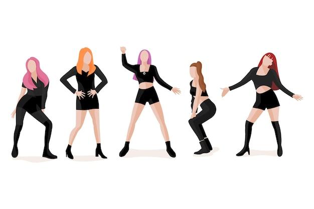 Grupo de garotas k-pop