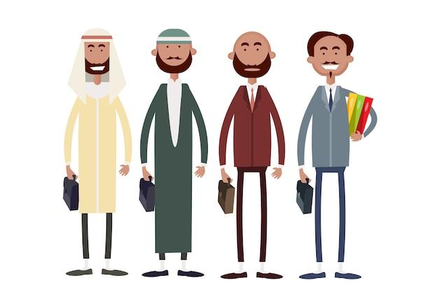 Grupo de homem de negócios étnicos