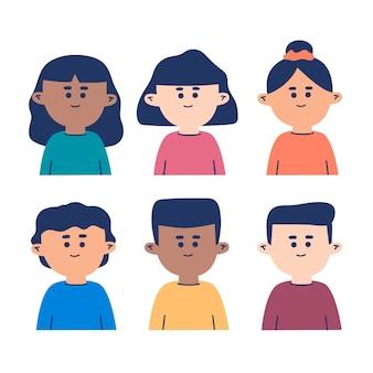 Grupo de ilustração de avatares de pessoas
