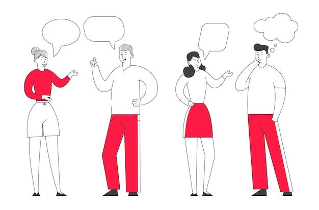 Grupo de jovens falando juntos.