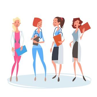 Grupo de médicos medial mulher equipe clinics hospital