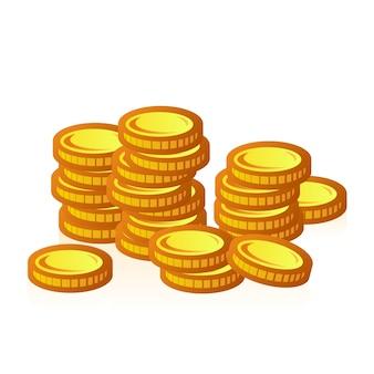 Grupo de moedas de ouro