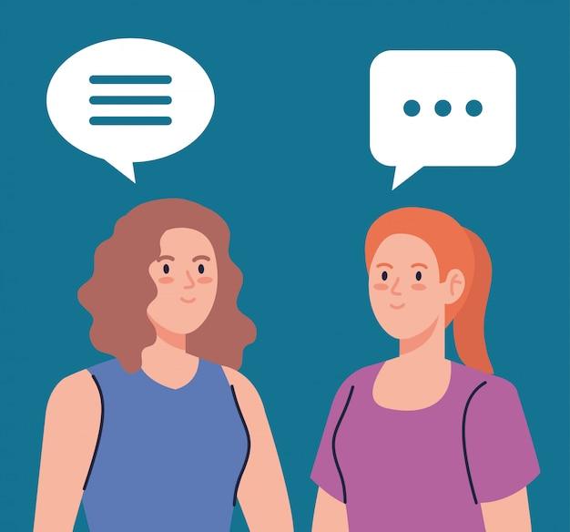 Grupo de mulheres conversando