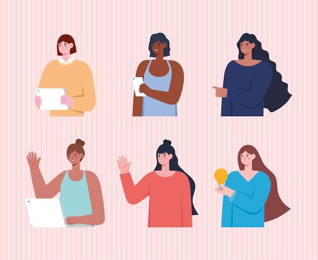 Grupo de mulheres trabalhadoras