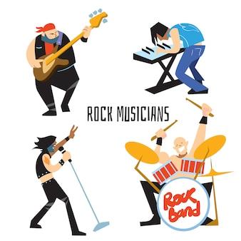 Grupo de música de banda de rock com músicos