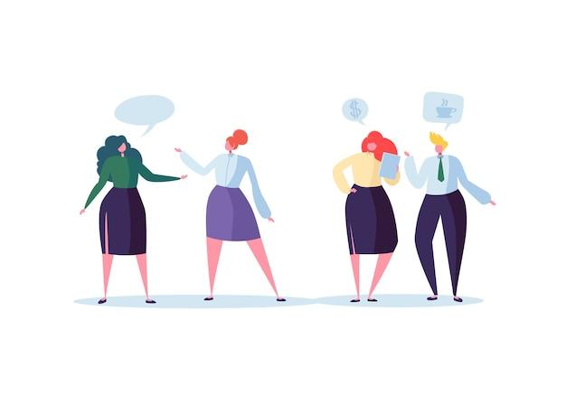 Grupo de personagens de negócios conversando