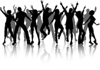 Grupo de pessoas de festa