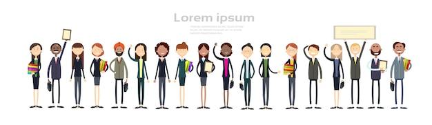 Grupo de pessoas de negócios étnicos