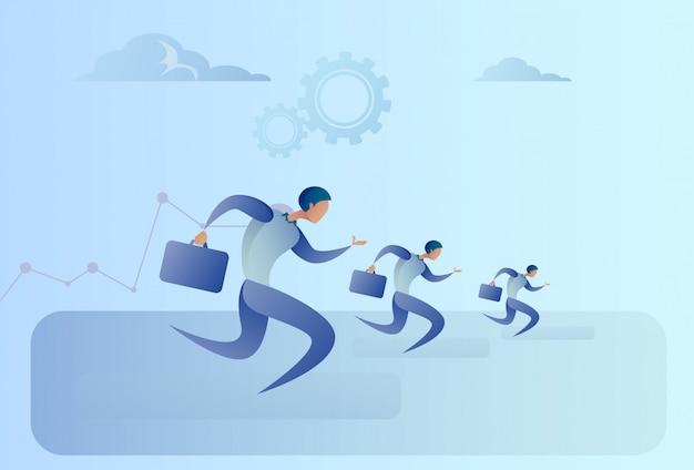 Grupo de pessoas de negócios executar o conceito de concorrência de líder de equipe