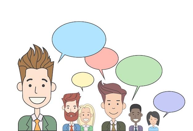 Grupo de pessoas de negócios falando