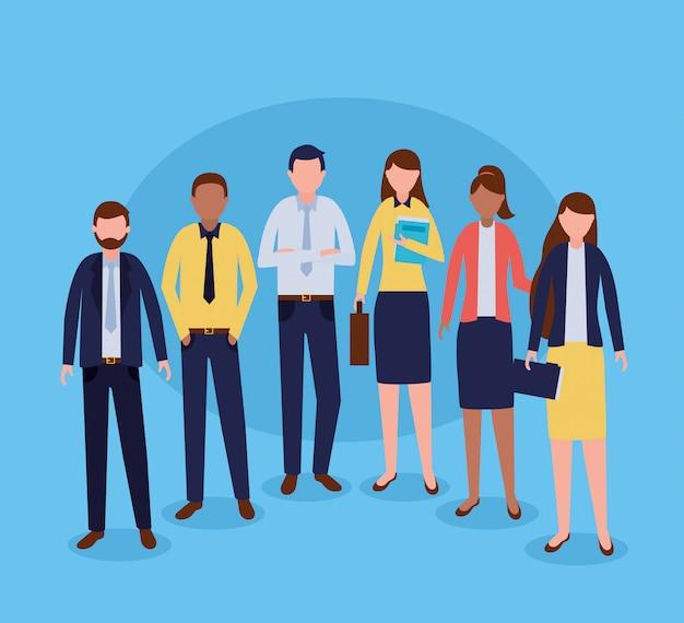 Grupo de pessoas de negócios