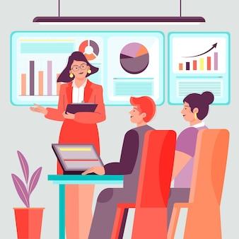 Grupo de pessoas em treinamento empresarial